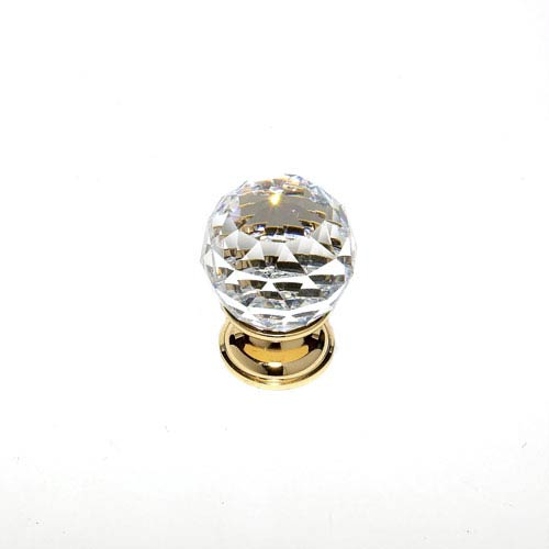 JVJ Hardware Pure Elegance 24 K Gold Plated Finish 1 3/16-Inch Faceted Ball
