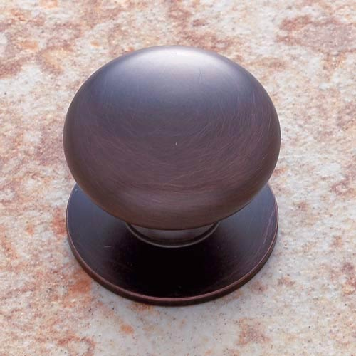 Old World Bronze 1 1/2-Inch Plymouth Knob with Back Plate
