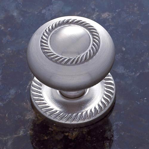 Pewter 1 1/2-Inch Rope Knob with Back Plate