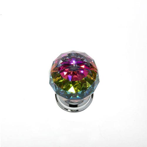 JVJ Hardware Pure Elegance Chrome Finish 1 9/16-Inch Faceted Ball w/Prism