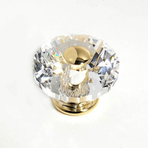 JVJ Hardware Pure Elegance 24 K Gold Plated Finish 2 3/8-Inch Diamond Cut
