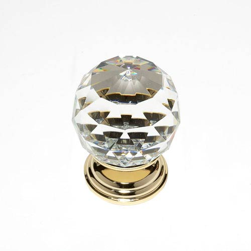 Pure Elegance 24 K Gold Plated Finish 2-Inch Faceted Ball