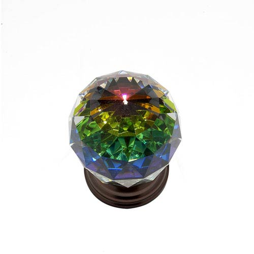 JVJ Hardware Pure Elegance Old World Bronze Finish 2-Inch Faceted Ball w/Prism