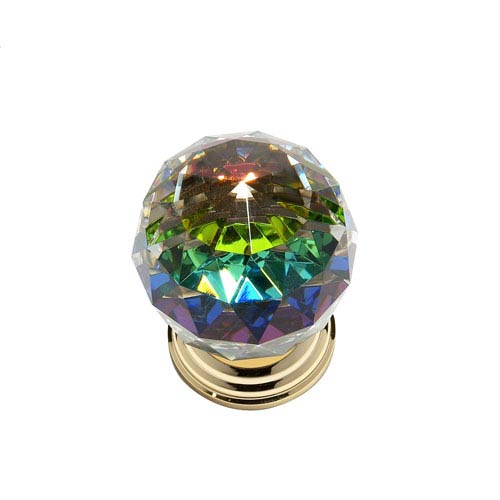 Pure Elegance 24 K Gold Plated Finish 2-Inch Faceted Ball w/Prism