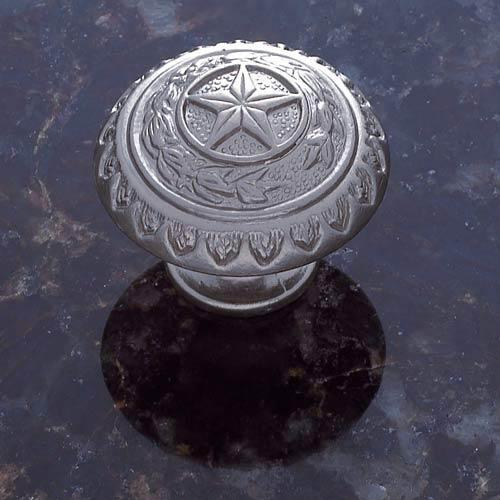 Pewter 1 3/8-Inch Texas Star Knob