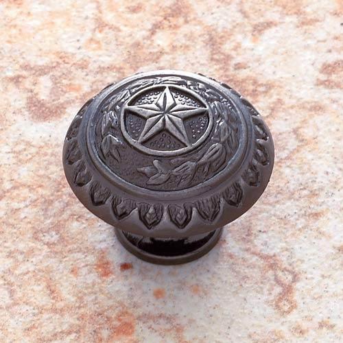 Antique Nickel 1 3/8-Inch Texas Star Knob