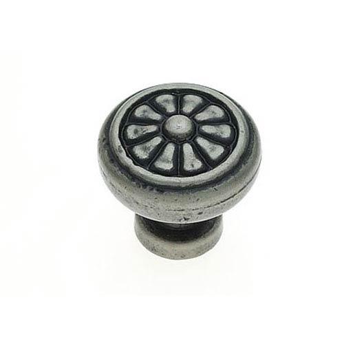JVJ Hardware Bedrock Aged Nickel Finish Rustic Round Knob