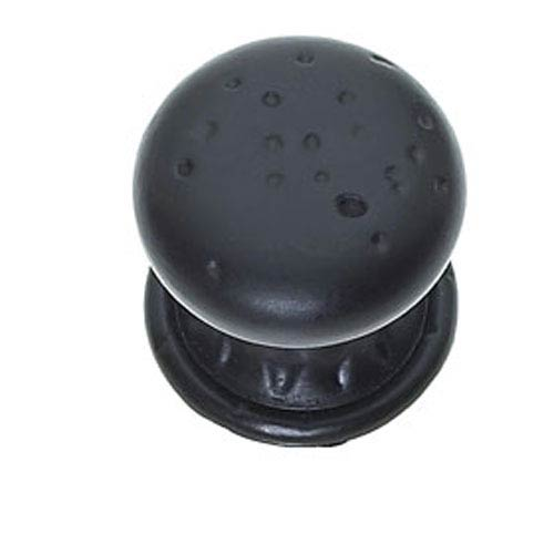 Pompeii Oil Rubbed Bronze finish Pitted Mushroom Knob w/Round and Square Back Plates