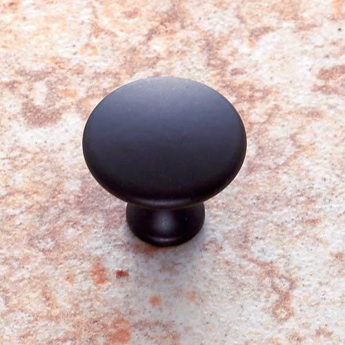 Matte Black 1 1/4-Inch Dome Knob