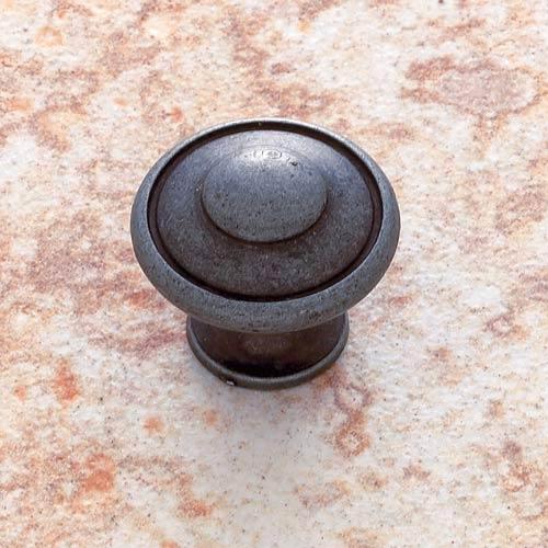 Iron 1 3/16-Inch Large Button Knob