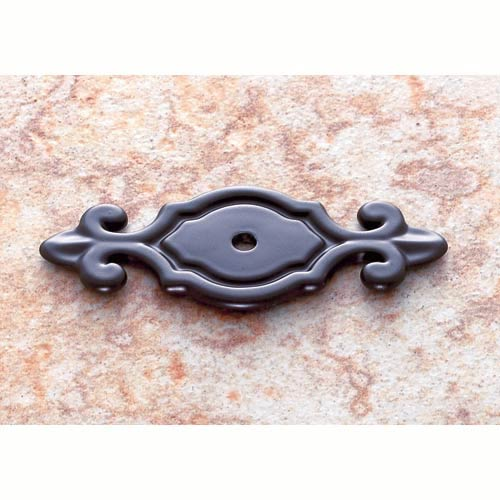 Oil Rubbed Bronze 3-Inch Deco Back Plate for Knob