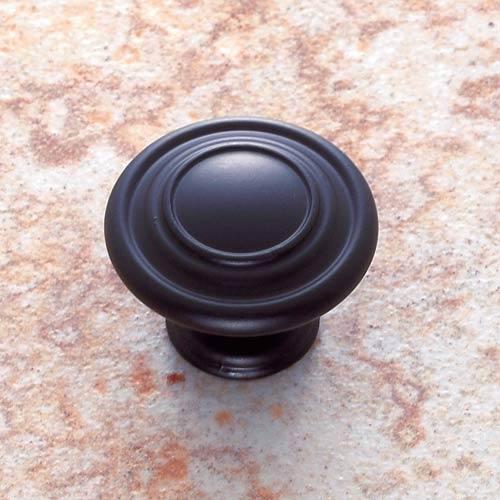 Matte Black 1 1/4-Inch Ringed Knob