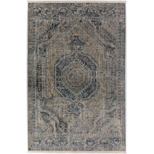 Baku Taupe Rectangular: 3 Ft. 1 In. x 5 Ft. 4 In. Rug