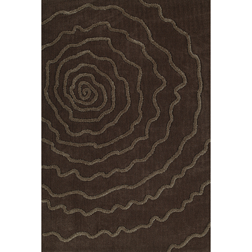 Dalyn Rugs Dakota Chocolate Rectangular: 3 Ft. 6 In. x 5 Ft. 6 In. Rug