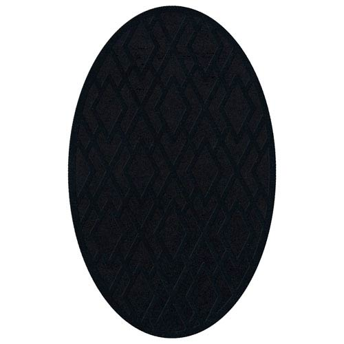 Dover DV1 Black Oval: 3 x 5 Ft.  Area Rug Product Image
