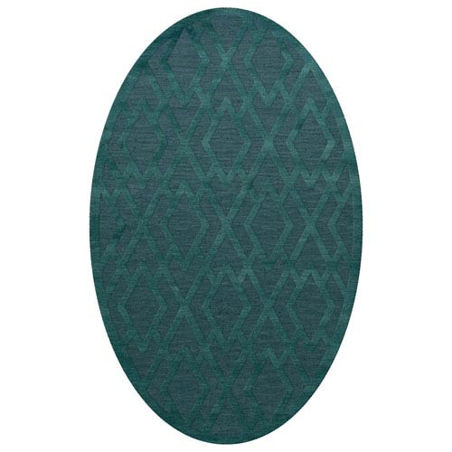 Dover DV1 Teal Oval: 3 x 5 Ft.  Area Rug Product Image