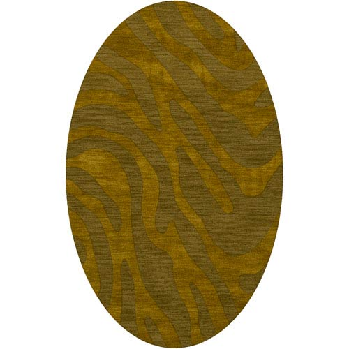 Dover DV2 Avocado Oval: 3 x 5 Ft.  Area Rug Product Image