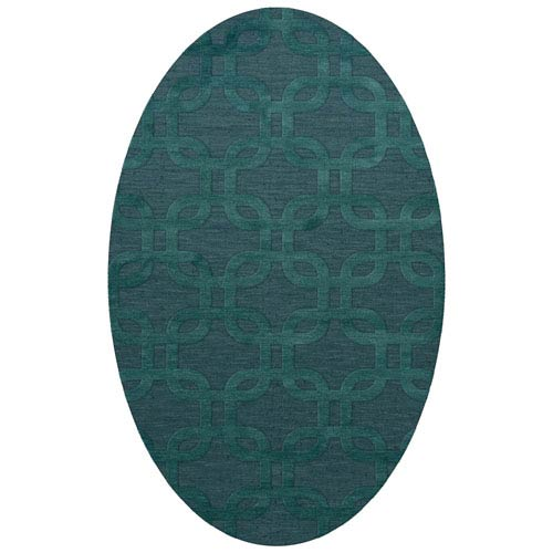 Dalyn Rugs Dover Dv7 Teal Oval: 10 X 14 Ft. Area Rug
