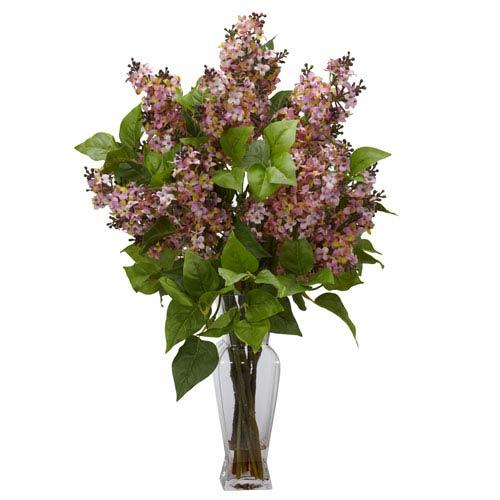 Pink Lilac Silk Flower Arrangement