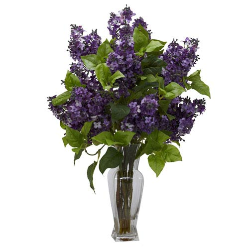 Nearly natural purple lilac silk flower arrangement 1256 pp bellacor nearly natural purple lilac silk flower arrangement mightylinksfo