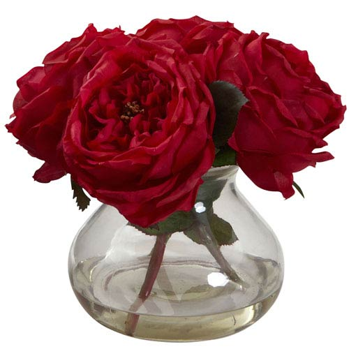 Red Fancy Rose with Vase