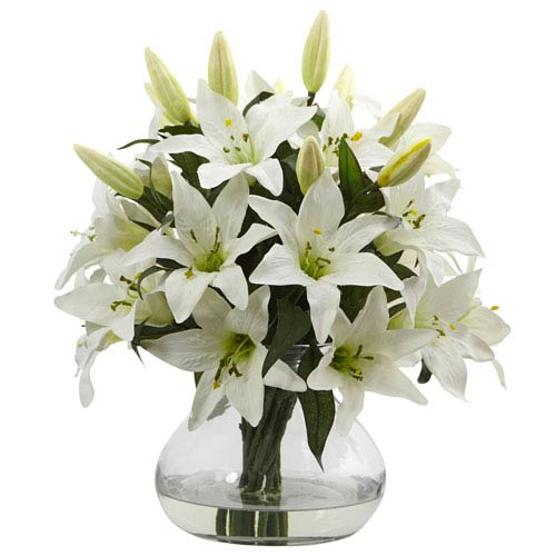 Large Lily Arrangement with Vase
