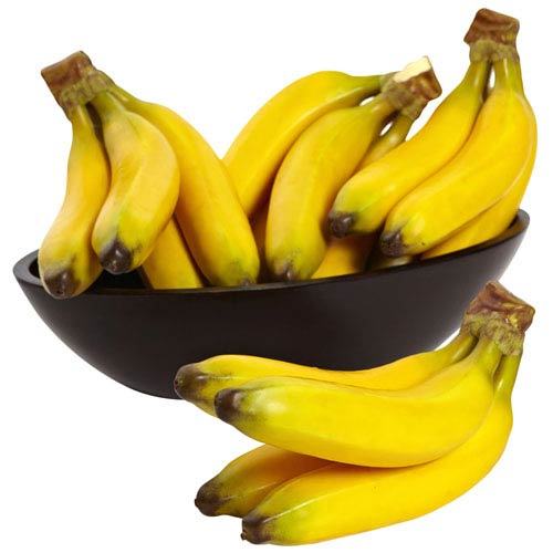 Yellow Faux Banana Bunch, Set of Four