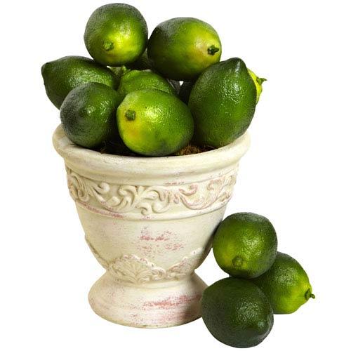 Green Faux Limes, Set of 12