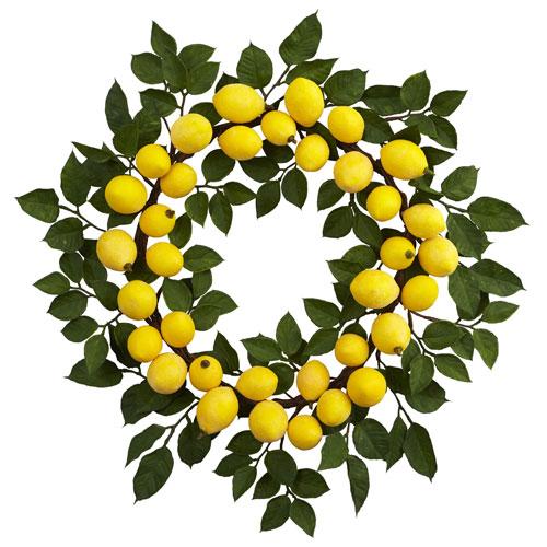 24-Inch Lemon Wreath