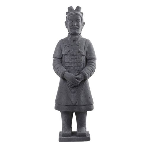 Grey 40-Inch Warrior Statue