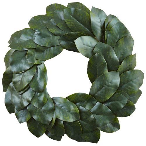 Green 24-Inch Magnolia Leaf Wreath