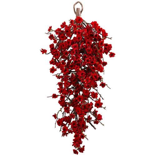 Red 28-Inch Plum Blossom Teardrop