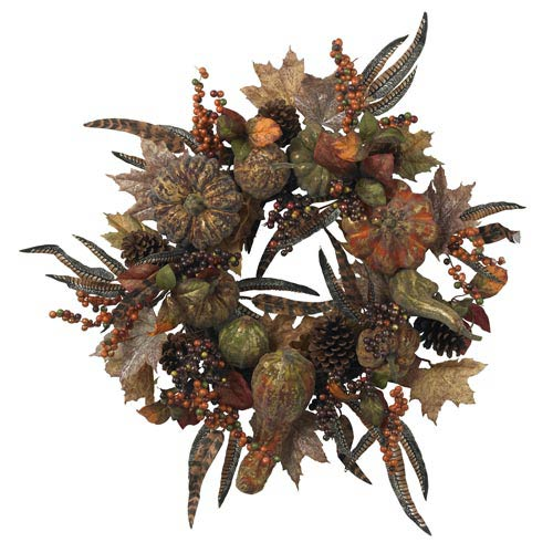28-Inch Autumn Pumpkin Wreath