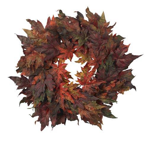 30-Inch Maple Leaf Wreath