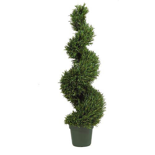 Nearly Natural 4-Foot Indoor/Outdoor Rosemary Spiral Tree