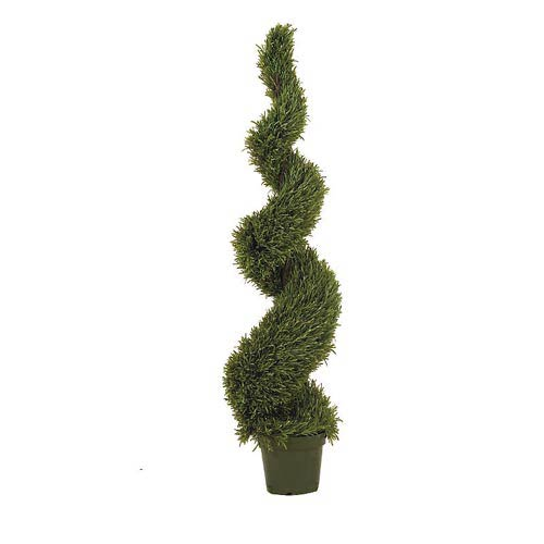 5-Foot Indoor/Outdoor Rosemary Spiral Silk Tree