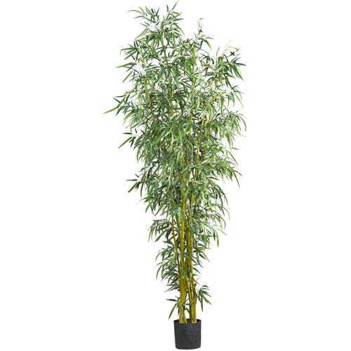 Green 8 Foot Fancy Style Bamboo Silk Tree