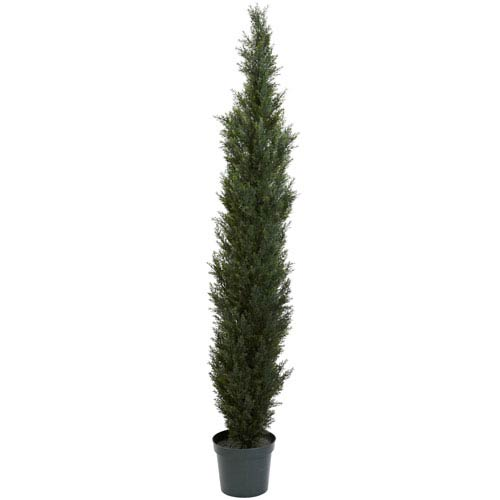 Nearly Natural Green 7 Foot Mini Cedar Pine Tree with 12-Inch Pot