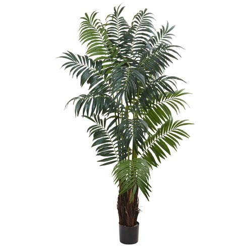 Green 7.5 Foot Bulb Areca Palm Tree