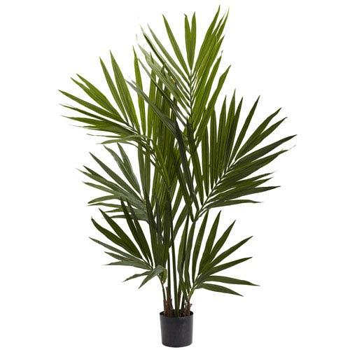 Green 4 Foot Kentia Palm Silk Tree