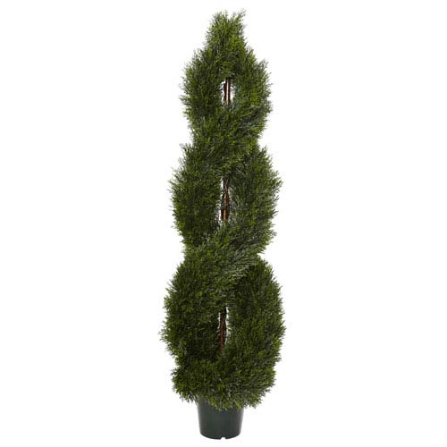 5 Ft. Pond Cypress Spiral Topiary UV Resistant