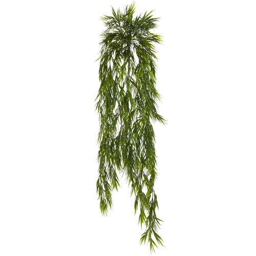 43 In. Mini Bamboo Hanging Bush, Set of Two