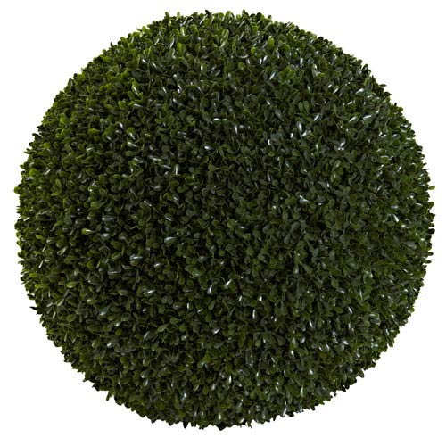 Green 19-Inch Boxwood Ball
