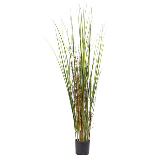 Green 4 Foot Grass and Bamboo Plant