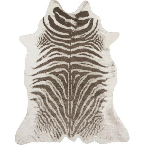 Acadia Zebra Gray Rectangular: 5 Ft. 3 In. x 7 Ft. 10 In. Rug