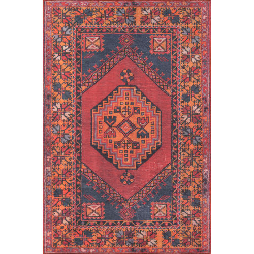 Afshar Medallion Red Rectangular: 3 Ft. x 5 Ft. Rug