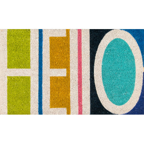 Aloha Hello Multicolor Rectangular: 1 Ft. 6 In. x 2 Ft. 6 In. Rug