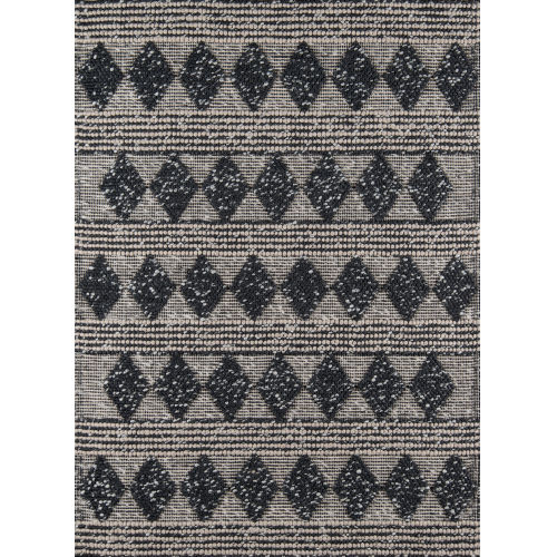 Andes Geometric Charcoal Rectangular: 6 Ft. x 9 Ft. Rug