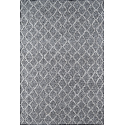 Andes Trellis Geometric Charcoal Rectangular: 7 Ft. 9 In. x 9 Ft. 9 In. Rug
