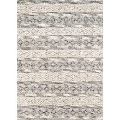 Andes Geometric Ivory Rectangular: 5 Ft. x 7 Ft. Rug